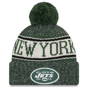 NY JETS NFL Sideline Cold Weather Beanie NWT